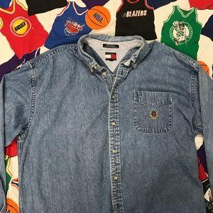 Tommy Hilfiger Blue Jean Denim Button Up Shirt